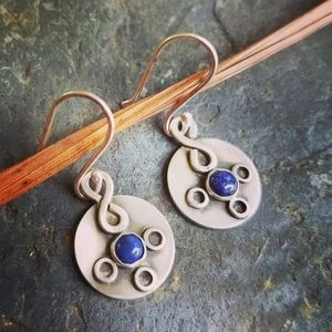 Lapis and sterling earrings